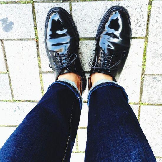 今日の足元。ALDEN Fashion Mens Fashion Outfit Alden