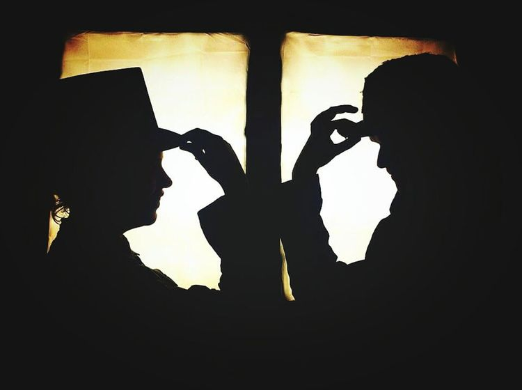 Theatre Nerds <3 Old Theater Guy And Girl Theater Musical Theatre Broadway Vintage Silhouette Mystery Dramatic Gold