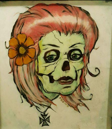 Graffiti graffitiart foundinabathroom Portrait San Francisco Bay San Francisco Shefrankenstein Close-up Old-fashioned Human Body Part Prettyface