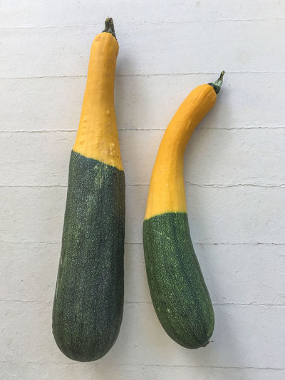 Mutant squash Zucchini Close-up Freshness Funny Vegetables Green Color Half And Half Healthy Eating Mutation No People Squash Vegetables Yellow