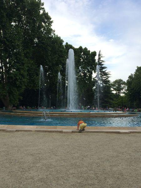 Child's Play Fountain Kids Margaret Island Outdoors Splashing Summer Water