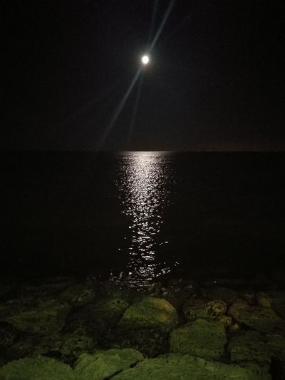 Fullmoon Night Nightphotography Seascape Night Water Moon Reflection Sea Scenics No People Beauty In Nature HUAWEI Photo Award: After Dark EyeEmNewHere