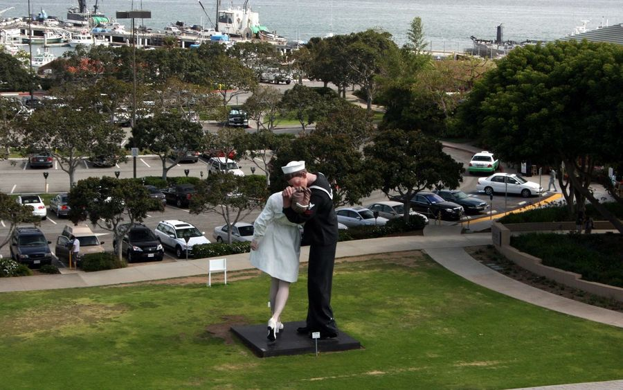 San Diego Navy Unconditional Surrender Kiss Statue USS Midway  Two Is Better Than One