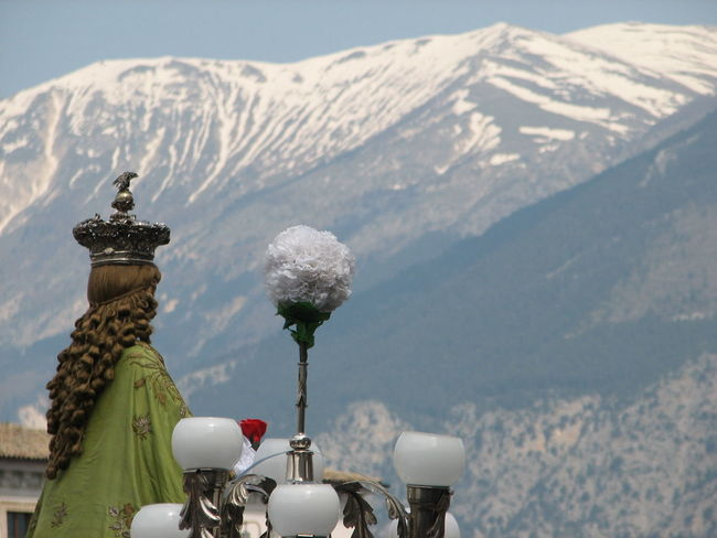 I capelli sono reali... l'atmosfera anche! Abruzzo - Italy Italy Mountain Mountain View Mountains And Sky Outdoors Religion And Tradition Religions Religious  Religious Icons Sky Tranquil Scene Travel Destinations Travel Photography