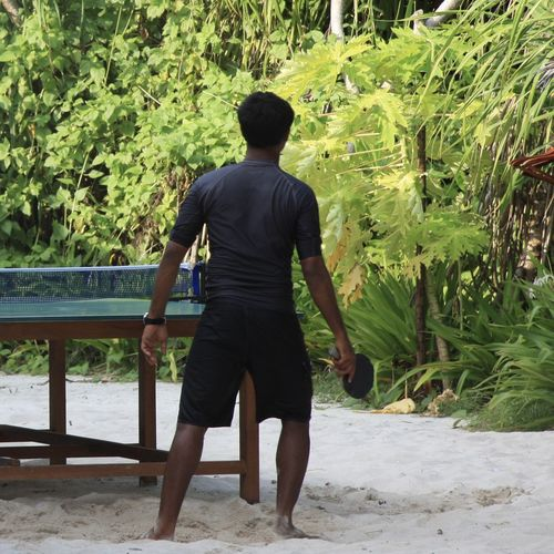 Activity Beach Enjoying Life EyeEm Best Shots Getting Inspired Green Growth Hello World Leisure Activity Maldives Man Motion My Year My View Nature Outdoors People Rear View Sand Sport Tabletennis Taking Photos Travel Tree Vacation Miles Away Done That. Modern Hospitality