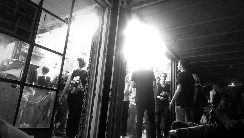 Heideglühen Samstag Morgen Berlin Nacht Blackandwhite Black And White Monochrome Clubbing