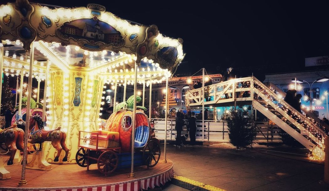 are you for a spin Oneplus Oneplus3 Shotononeplus NeverSettle Advent Osijek City Cityscape Cameraphone Smartphone Snapseed Instagood Smartphonephotography Christmas Decoration Advent Nightphotography Amusement Park Arts Culture And Entertainment Carousel Amusement Park Ride Night Carousel Horses Merry-go-round Illuminated Outdoors