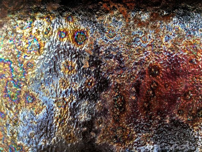 Full frame shot of Rusty texture on metal surface Full Frame Backgrounds Multi Colored No People Pattern Water Close-up Outdoors Glass - Material Window Day Low Angle View Abstract Decoration Nature Creativity Textured  Shiny