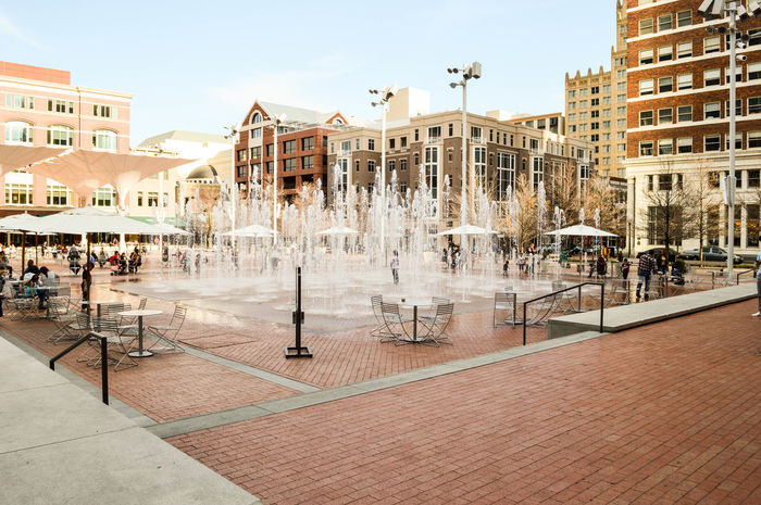 City City Life Downtown Fort Worth Fountain Sundance Square Texas Water Fountains