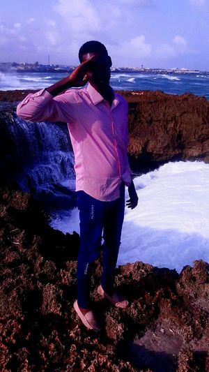 Cool Weather Ocean Waves Hits The Rock Nature Somalia, Africa Bestview