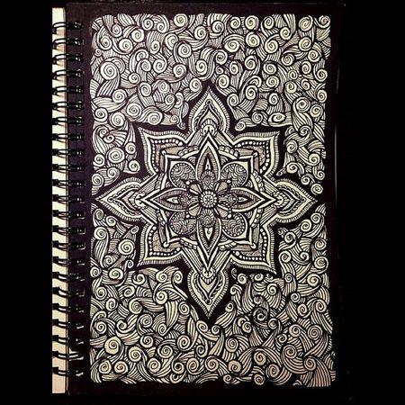 Вот такие пирожки... линеры мандала графика скетчбук рисунок орнамент doodling doodle drawing drawstagram art liners linework mandala painting paint