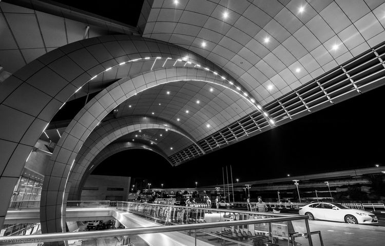 Architecture_bw Architecture_collection EyeEm Best Shots - Architecture Traveling Travel Photography Dubaiairport Throw A Curve blackandwhite photography EyeEm Best Shots - Black + White
