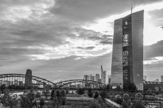 Skyline Frankfurt Sky And City Frankfurt Am Main Frankfurt City Outdoors EZB EZB Frankfurt EZB Frankfurt, Germany Europäische Zentralbank