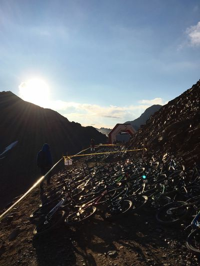 The morning of the TrekBikeAttack in the Swiss Alps. Trek Bicycle Mountain Sunlight Sky Nature Landscape Fahrradeberhardtracing