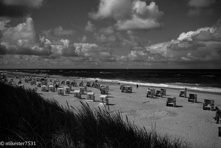 Outdoors Nature MonochromePhotography Black & White Leica Monochrome Sylt Kampen Beach Beach Photography Northsea Beach Chair Waves, Ocean, Nature Waves Crashing