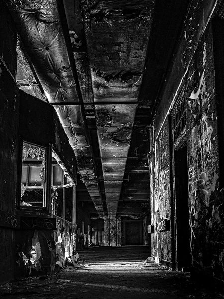 Images of an abandoned psych asylum Abandoned Architecture Asylum Built Structure Day Hanging Out Indoors  Old Ruined Ruins S The Way Forward