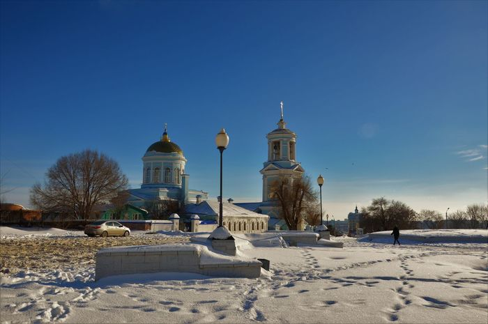 City Snow Russian Old Temples...