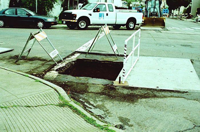 Construction Transportation Pg&e Outdoors Streetphotography Potholes City Lomo Xpro 100 Film Zenit122 Koduckgirl