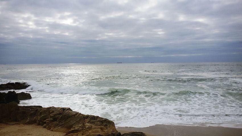 Beach Photography Beach Time Winterbeach Sea And Sky Sea Mar Praia Portugal Porto Casa Walk Rocks Sand Rochas NaturalBeauty Waves Cloud