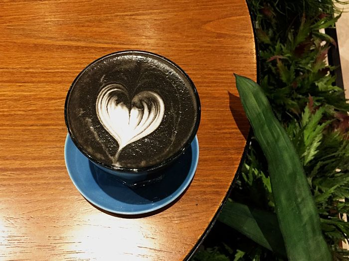 Latte Lava Plant No People Table Close-up Leaf Plant Part Wood - Material Food And Drink Water