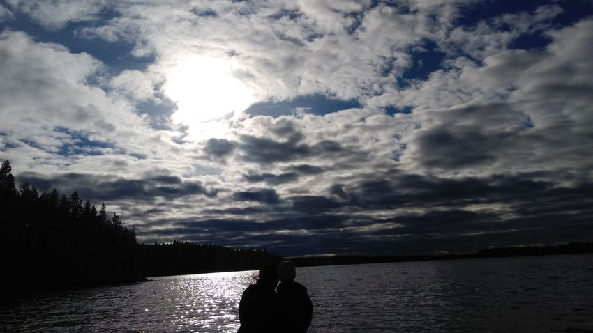 Water Cloud - Sky Silhouette Reflection Nature Sky Sea Outdoors Landscape Beauty In Nature Lovingsisters Sweden Beach Day Childhood Beauty In Nature Two People Lifestyles Nature Fantastic Landscape