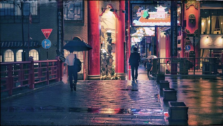 Reedit / Rainyday walkers One Shot Wonder : Walking Around Nagasaki Chinatown / North Gate( Genbu mon ) Street Photography Streetphoto_color Discover Your City Night Photography Earlier This Week 50mm 16:9 de Good Night Snapshots Of Life Nagasa-Kirei ( ナガサキレイ )