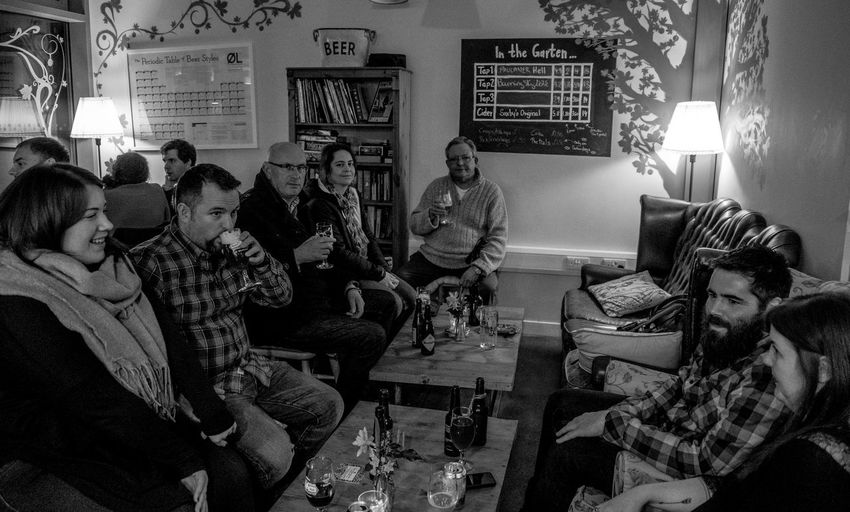 The Biergarten, Wolverton Monochrome Black And White FUJIFILM X-T2 Buckinghamshire Wolverton Pub Buckinghamshire Pubs