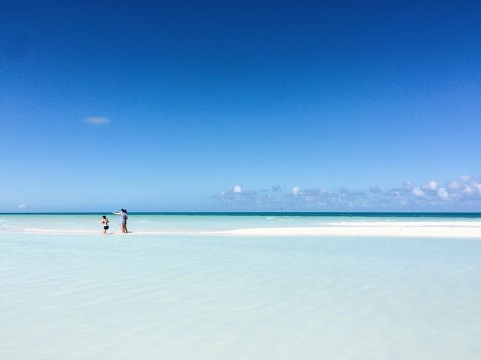Ocean view Resort Beach Cuba Travel Tranquil Scene Tranquility Nature Vacations Sky Day Outdoors Sand Two People Clear Sky People