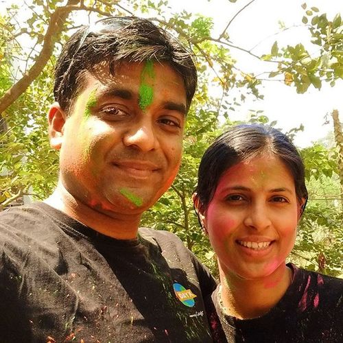 Celebrating holi with my true soul mate..... Thank you sweetheart for being supportive & helping in every way you can. Love Funfilled Happyholi Colours