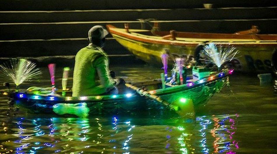 The Ferryman Varanasi India Ganges Ganga Boat Ferry Light Bright Beautiful Colourful Picoftheday