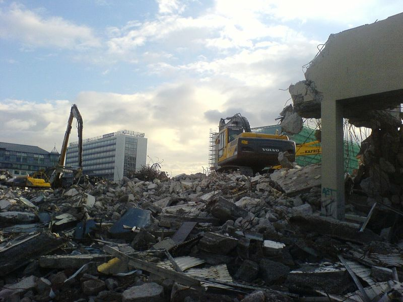 Höfe Am Brühl Abbruch Baustelle Gebäudeabriss Building Demolition Demolition Zone Demolition Excavator Bagger 2007