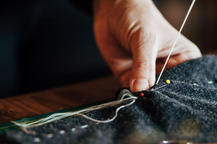 Sewing at home