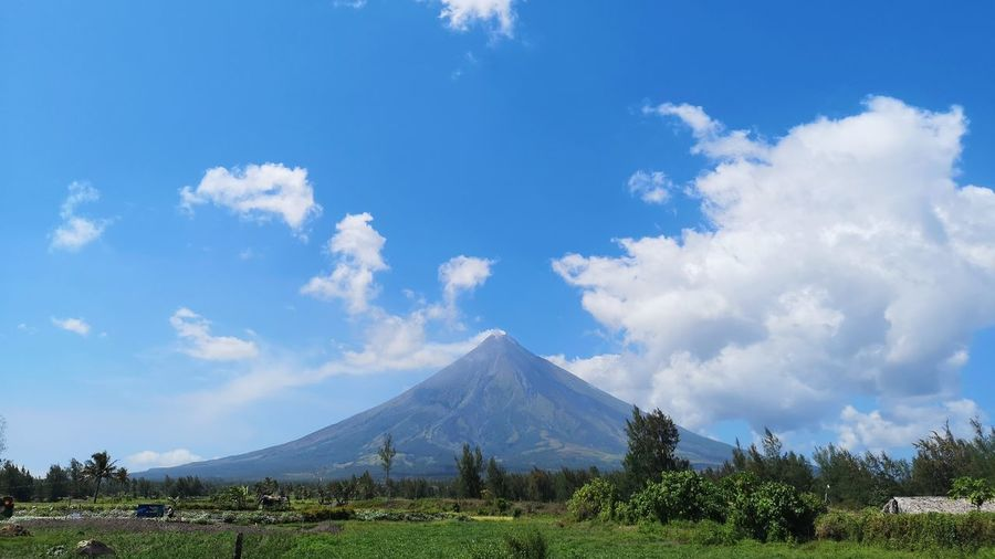 Always magayon. Mountain Cone Volcanic Crater Blue Volcanic Landscape Volcano Sky Landscape Cloud - Sky Active Volcano