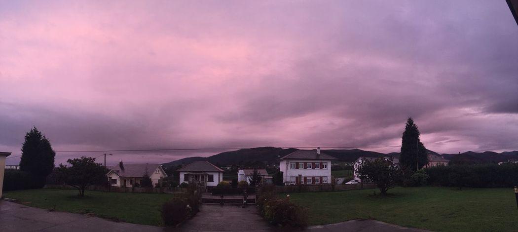 Purple sky??