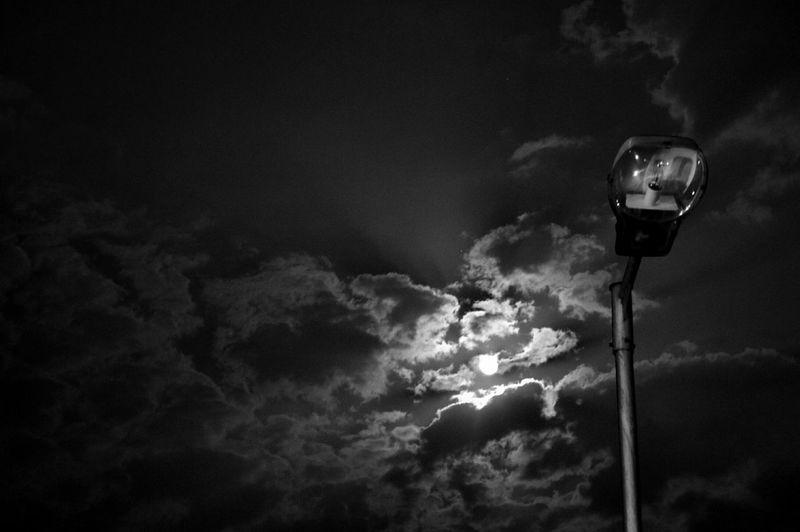 Indian Street Light At Night