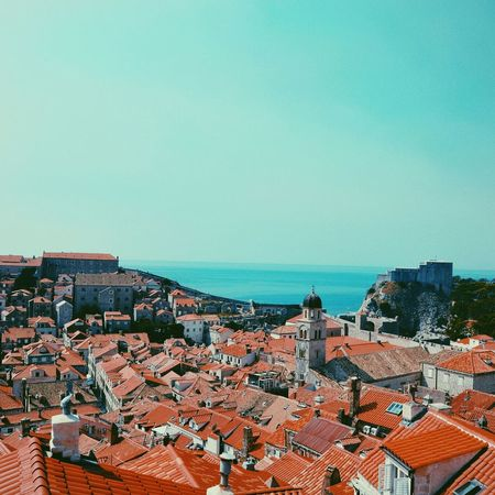 Architecture Clear Sky Building Exterior Roof City Built Structure Sky Sea Cityscape No People Outdoors Day Nature Sand Beach Cielo Dubrovnik Croatia Croacia Juego De Tronos Game Of Thornes Got Blue Azul City