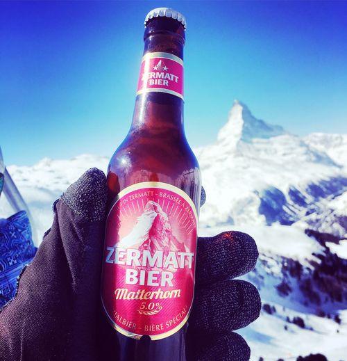 Original Zermatter Bier Zermatt Beer Text Cloud - Sky Sky Communication Day Low Angle View Close-up Outdoors