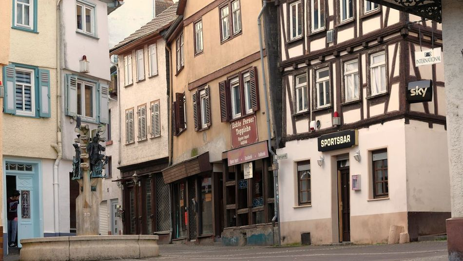 Partyscene Friedberg Brunnenfigur Alley Apartment Architecture Building Building Exterior Built Structure City Day Friedberg House Nature No People Outdoors Road Row House Street Street Light Town Window