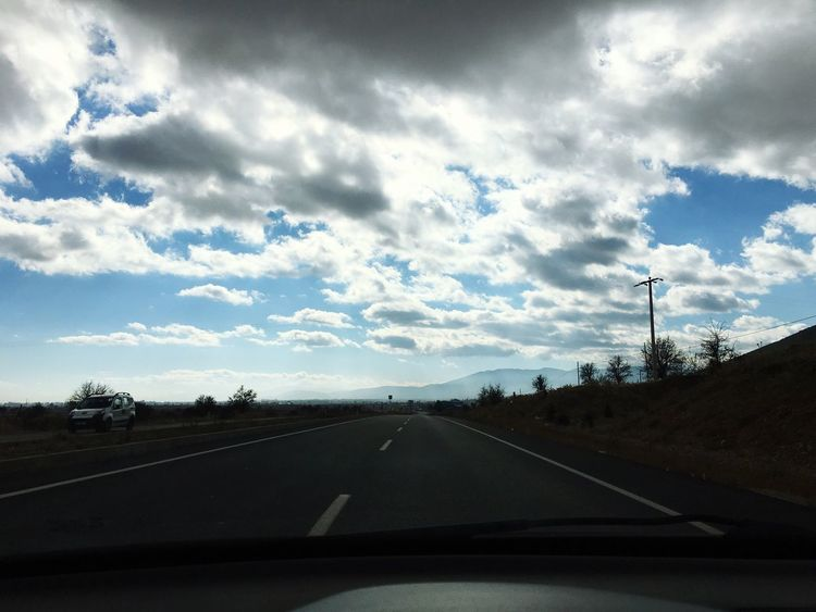 Nature Nature Photography Antalya Denizli Turkey Road Car Sky Transportation The Way Forward Car Interior Car Point Of View Tree Cloud - Sky No People Mode Of Transport Land Vehicle Day Nature Windscreen Outdoors (null)