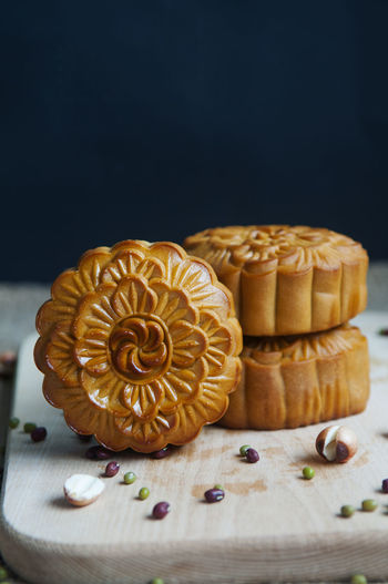 Traditional moon cakes to celebrate mid autumn festival Dessert Singapore Taiwan Vietnam Close-up Culture Food Food And Drink Freshness Indoors  Mid Autumn Festival Moon Cakes Moon Cakes To Celebrate Mid Autumn Festival No People