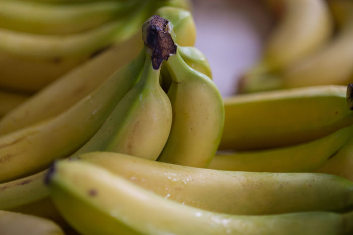 Abundance Backgrounds Banana Close-up Detail Focus On Foreground Food Freshness Full Frame Green Green Color Healthy Eating Nature No People Organic Ripe Selective Focus Still Life Yellow