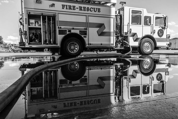 Creative Light And Shadow Puddleography Puddle Reflections Canonphotography Canon60d Firedepartment Supportourfirefighters Blackandwhite Photography EyeEm Best Shots Realphotography