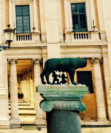 Architectural Column Architecture Art Campidoglio Capitoline Hill Capitoline Wolf Culture Historical Sights History Italia Italy Legend Legendary Lupa Capitolina Roma Roman Roman History Rome Romulus And Remus Sculpture See The World Through My Eyes See What I See Statue The Past The City Light