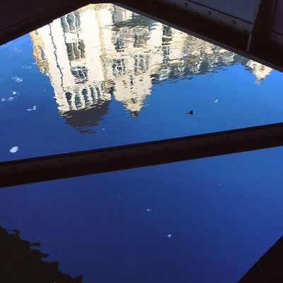 Architecture Berlin Photography Diagonal Reflection Spree Abstract Architecture Beauty In Nature Berliner Ansichten Berlinstagram Blue Clear Sky Close-up Day Minimal Nature No People Outdoors Reflection Scenics Sky Spree River Tranquility Tree Water