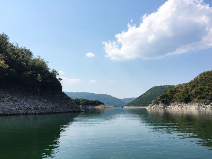 Water Nature Tranquility Tranquil Scene Beauty In Nature Sky Lake No People Outdoors Day Blue Perspectives On Nature Serbian_beauties EyeEmNewHere EyeEm Nature Lover The Week On EyeEm Beauty In Nature Uvac Lake