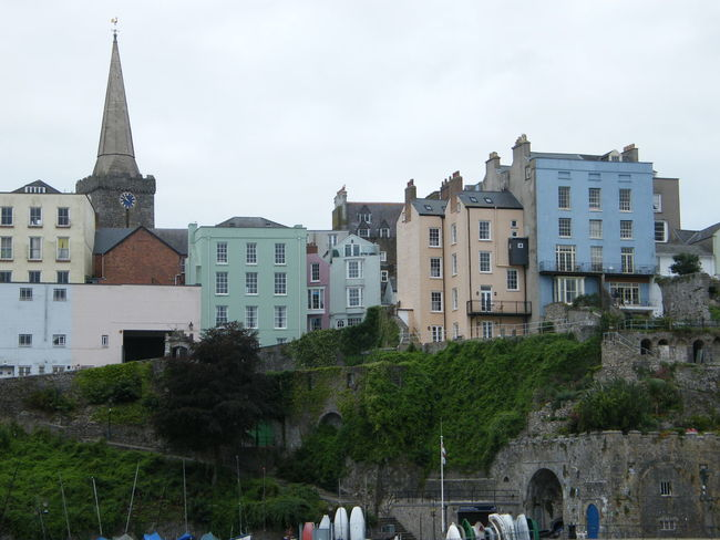 Architecture Building Exterior Built Structure City Coloured Houses Day No People Outdoors Pembrokeshire Pembrokeshire Coast Pembrokeshire Coastal Path Sky Tenby Tenby Harbour