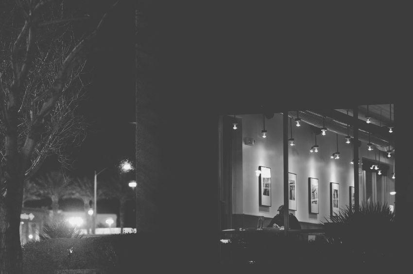 Night Illuminated Built Structure Window Architecture Photographerinlasvegas Evanscsmith Maninwindow Blackandwhite Blackandwhite Photography Building Exterior Eating Lasvegasnevada Lifestyles One Person