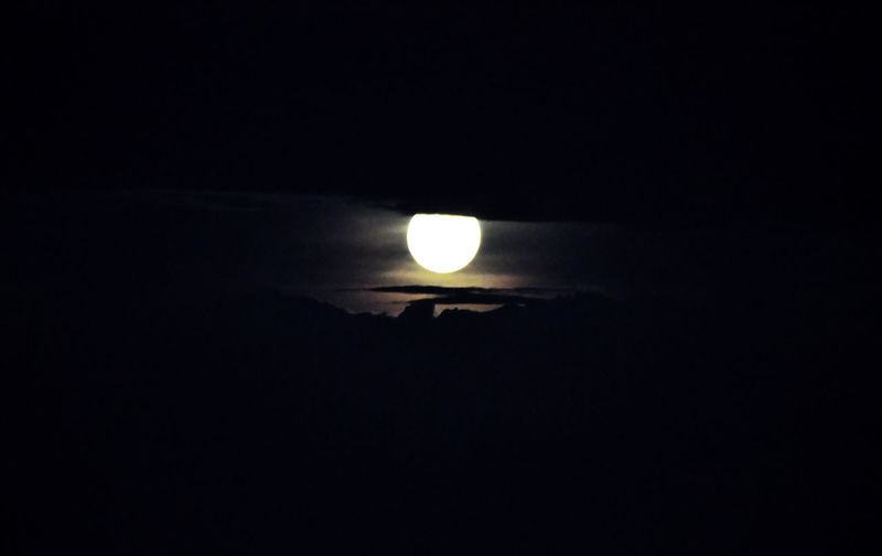 Scenic shot of moon in sky at night