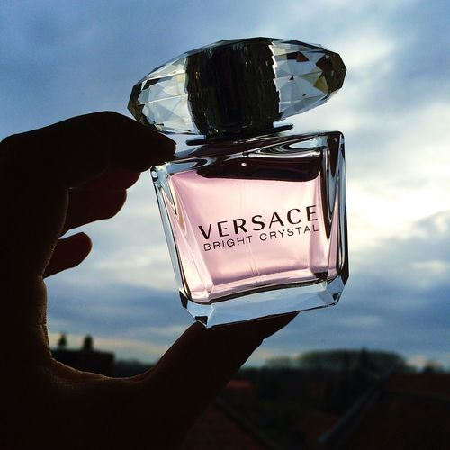 Parfume Versace Silhouette Sky Clouds And Sky Blue Sky Clouds Pink Chrystal Bright
