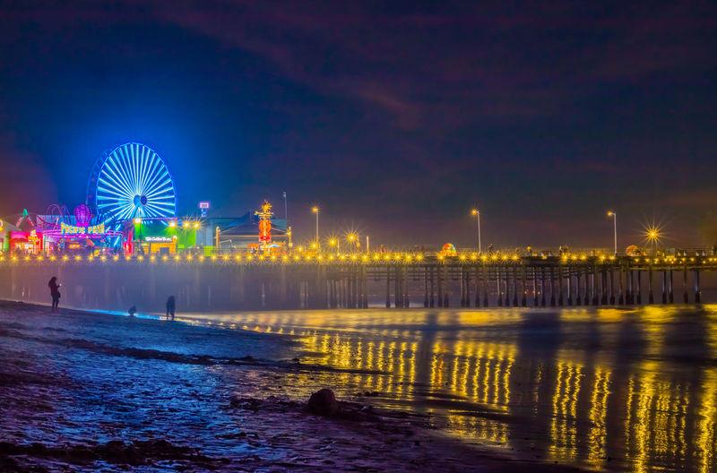 Architecture Beach California Cityscape Ferris Wheel Night Oroszphotography Outdoors Pier Reflection Santa Monica Sea Travel Destinations Water The City Light The Photojournalist - 2017 EyeEm Awards
